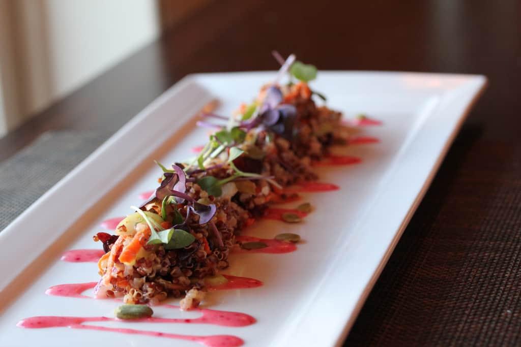Quinoa Cranberry Salad with kumquats and pumpkin seeds