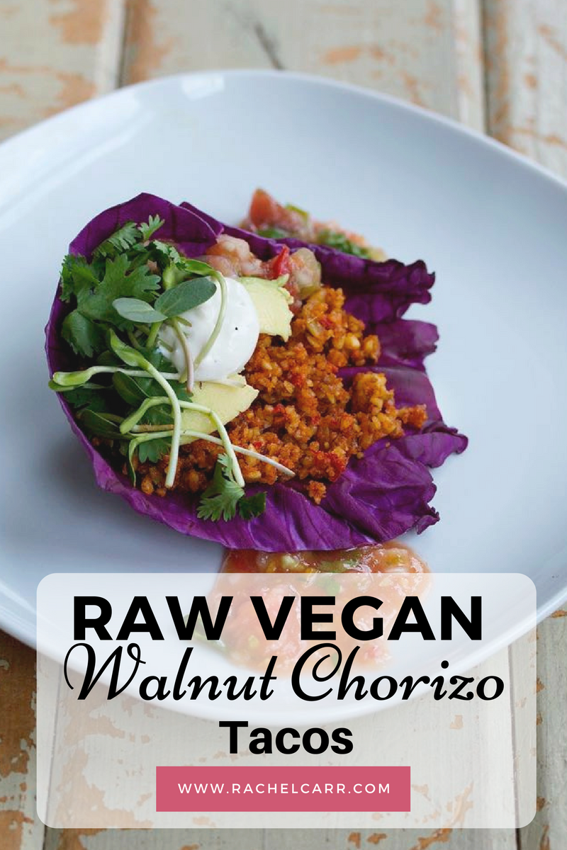 Raw vegan walnut chorizo taco raw vegan tacos are a great way to eat your veggies full of protein and forumfinder Gallery
