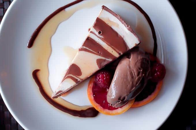 Blood Orange Chocolate Cheesecake