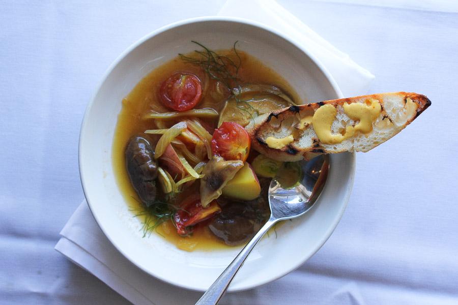 Vegan Mushroom Bouillabaisse