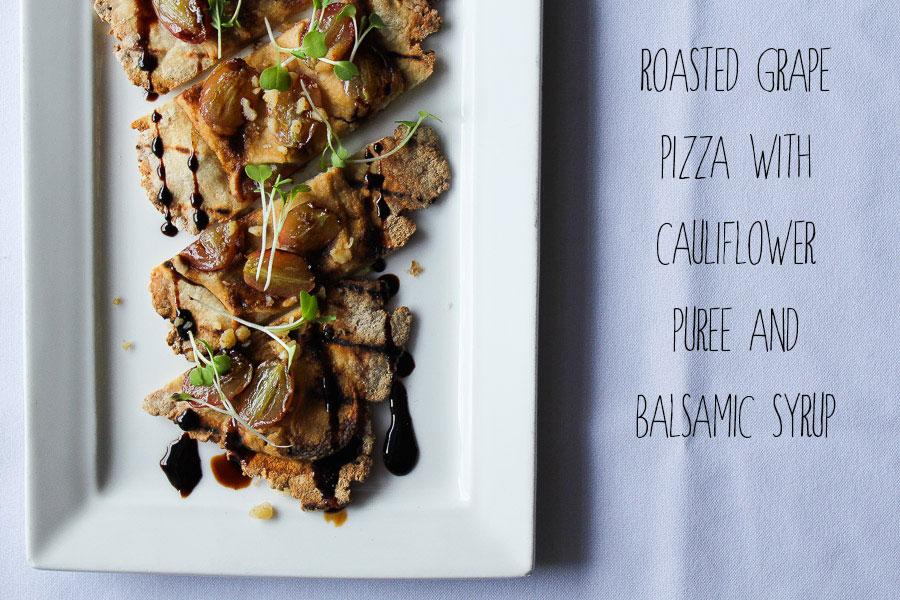 Roasted Cauliflower and Grape Flatbread