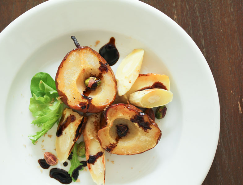Vegan Roasted Pear and Parsnip Salad