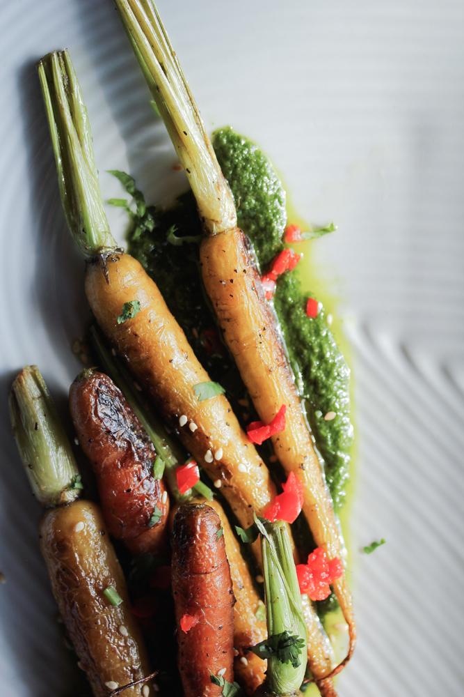 Easy Roasted Heirloom Carrots