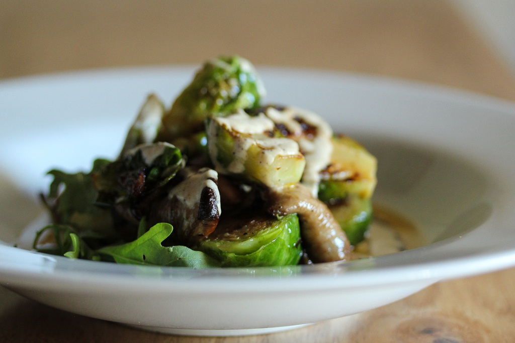 Pan Seared Brussels Sprouts