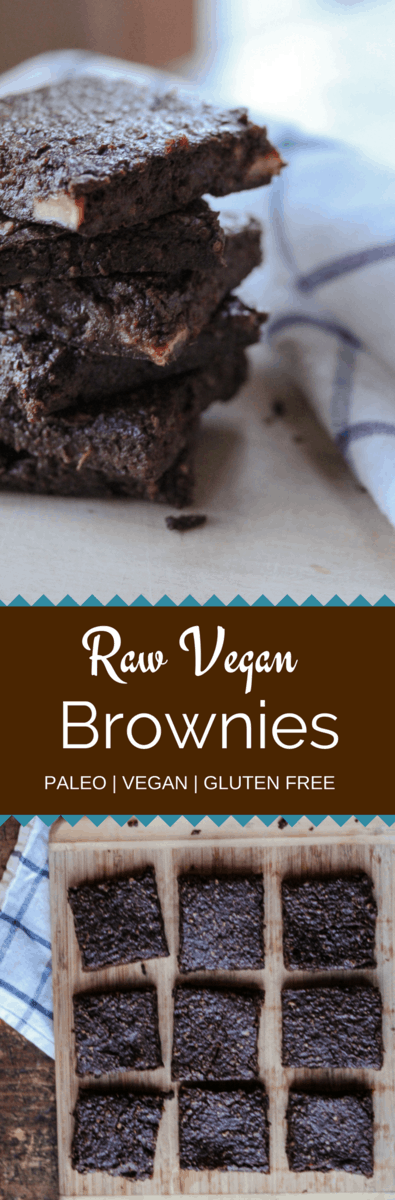 Raw Vegan Chocolate brownies are grain free, sugar free and gluten free! The rich flavor comes from walnuts, dates and raw vegan chocolate! If you don't have a dehydrator, don't worry we have you covered!