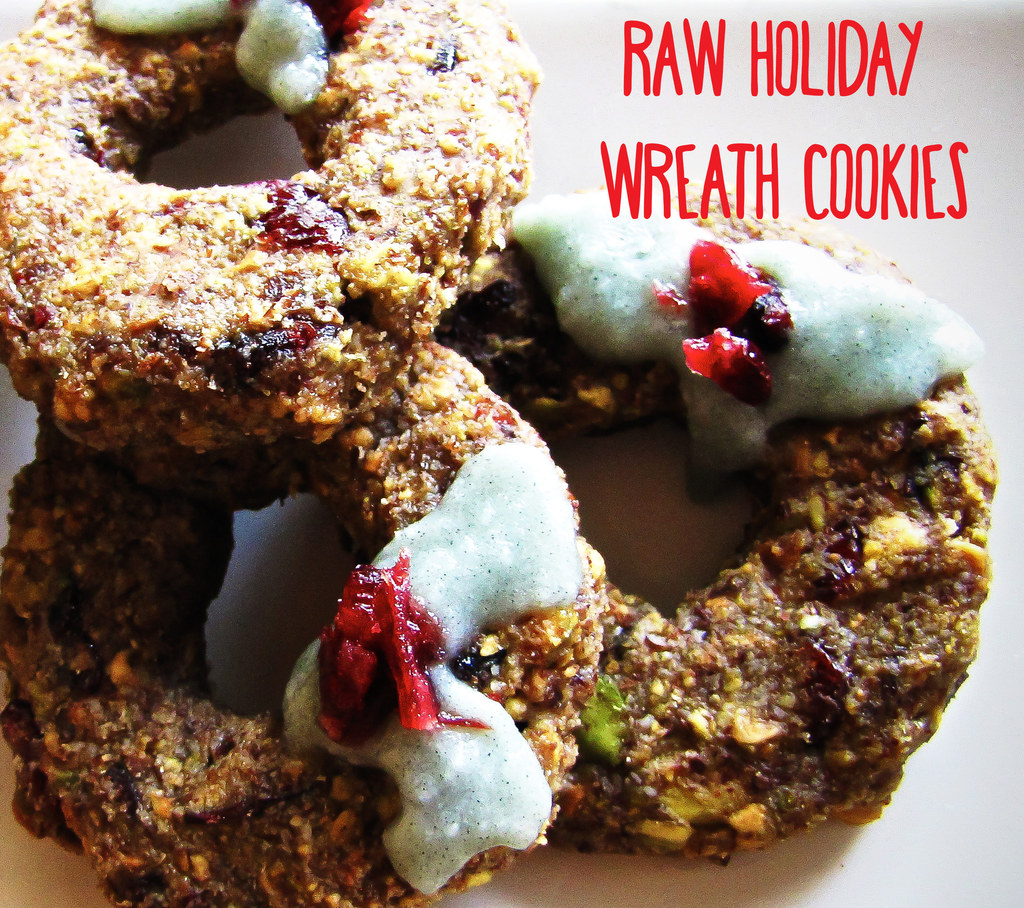 Raw Holiday Wreath Cookies