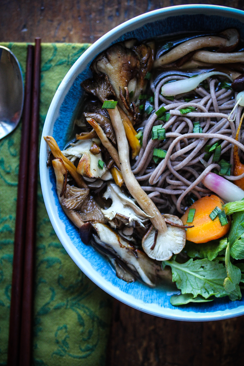 Wild Mushroom Dashi and Buckwheat Soba
