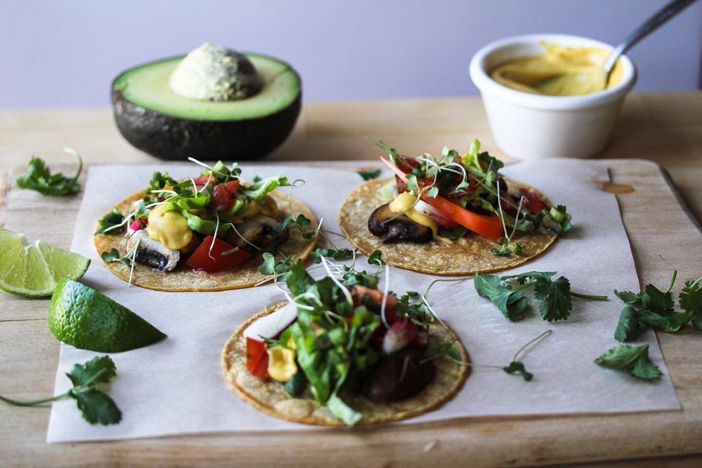 Mushroom Kabocha Tacos