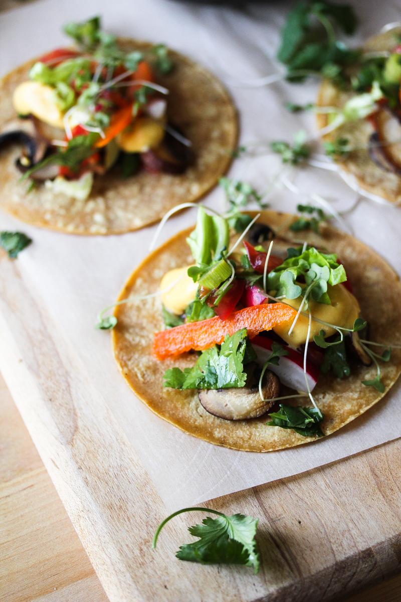kabocha mushroom tacos