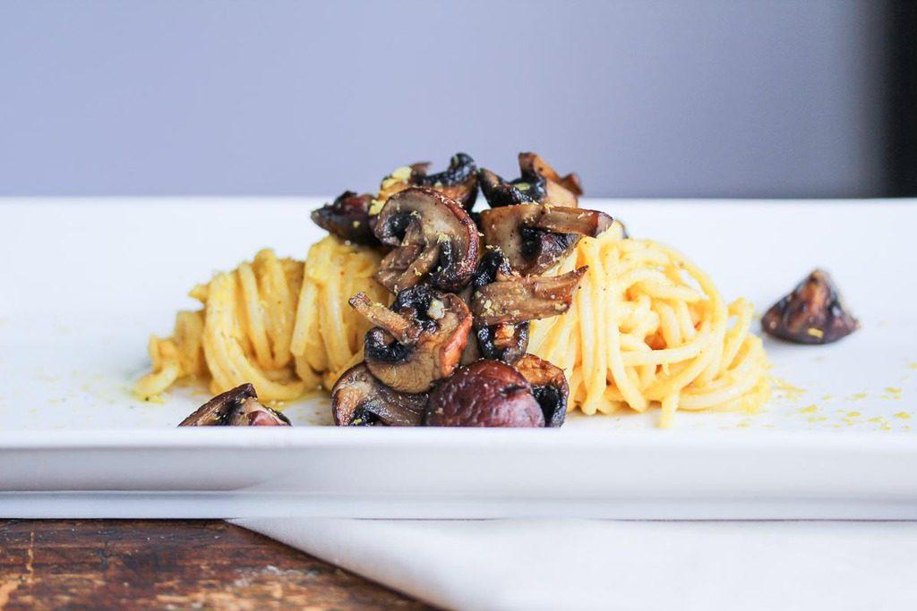 vegan mushroom pasta