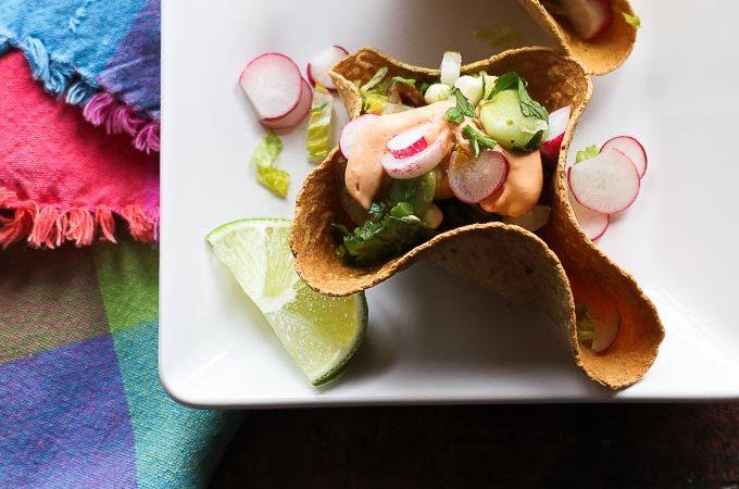 Mini Taco Salad Bowls