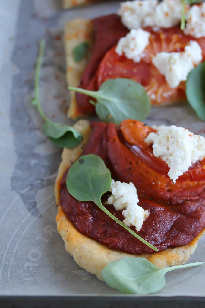 Gluten-Free Vegan Romesco Pizza
