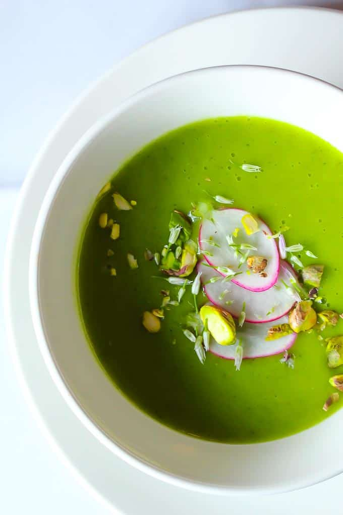 Vegan Cream of Watercress Soup , with a hint of white wine!