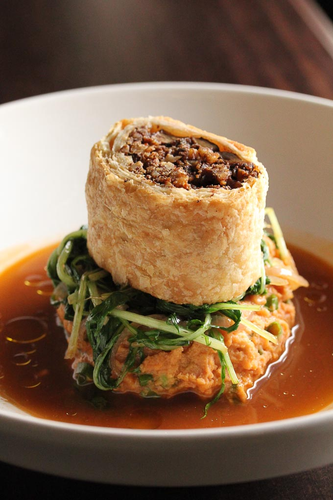 vegan pecan sage wellington