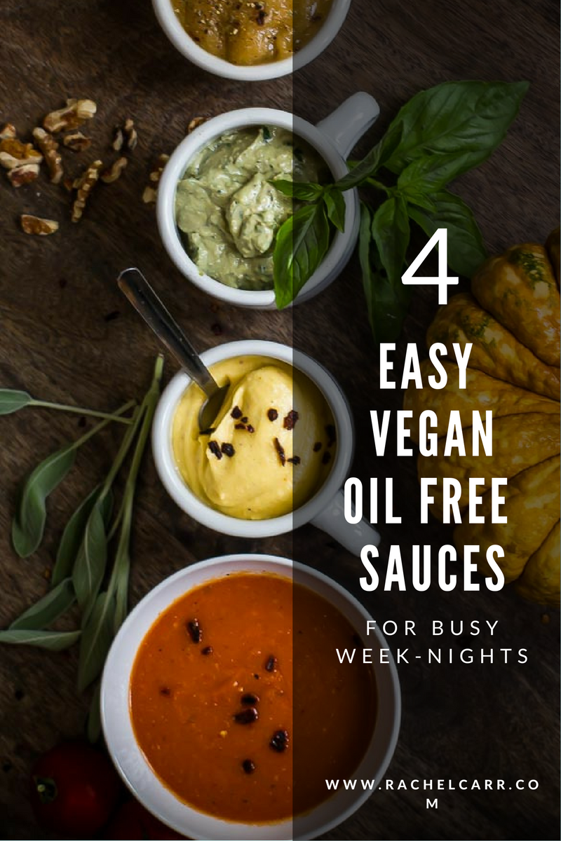 Learn 4 super healthy sauces that will knock your socks off with their flavor, versatility and easy preparation!