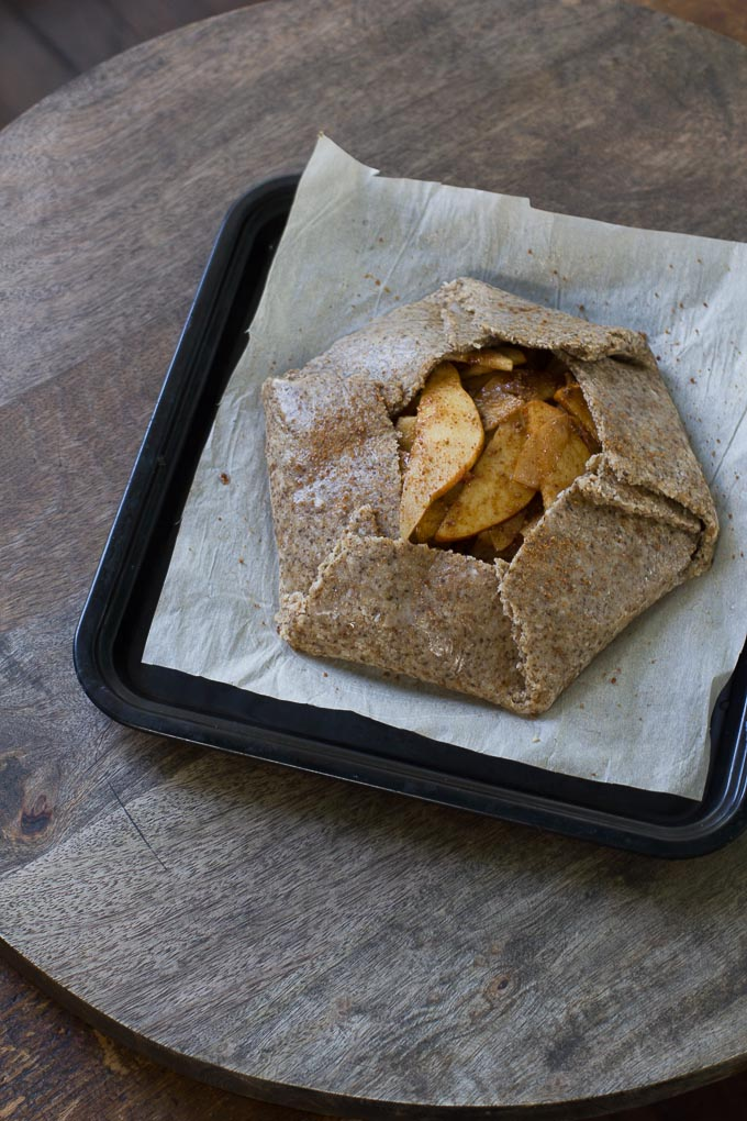 Vegan and Paleo Pear Galette-easy, grain free and refined sugar free!