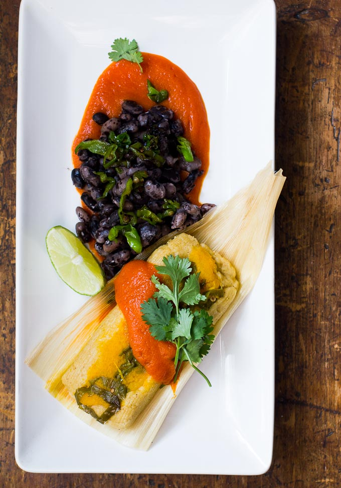 Pumpkin Tamal with shishito pepper