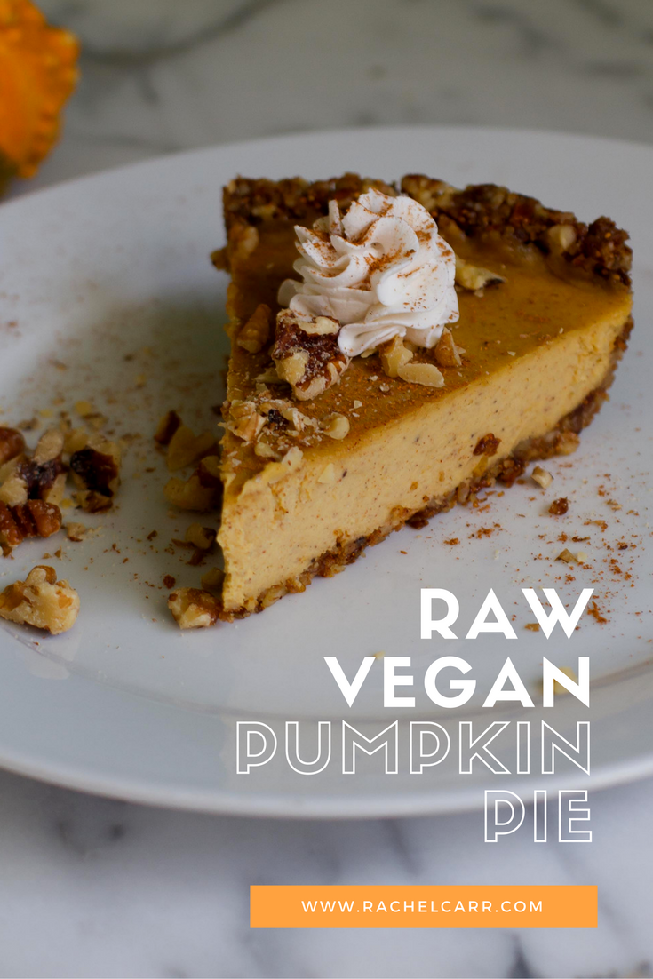 Raw Vegan Pumpkin Pie-so delicious and wicked healthy