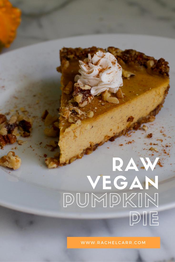Raw Vegan Pumpkin Pie-so delicious and wicked healthy
