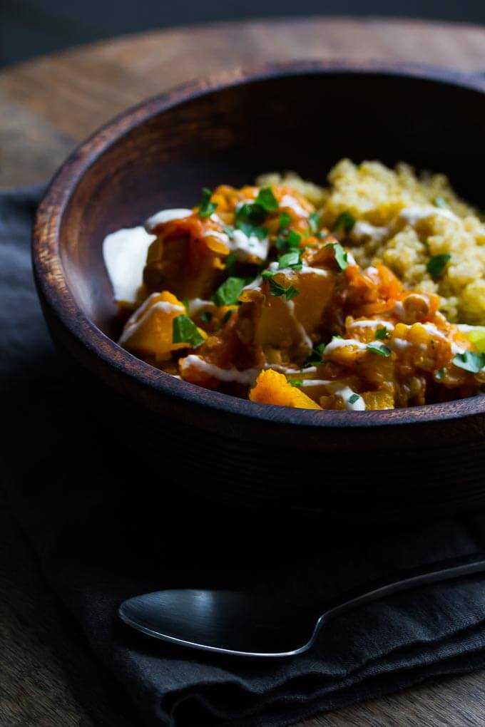 Afghan Pumpkin and Lentil Stew