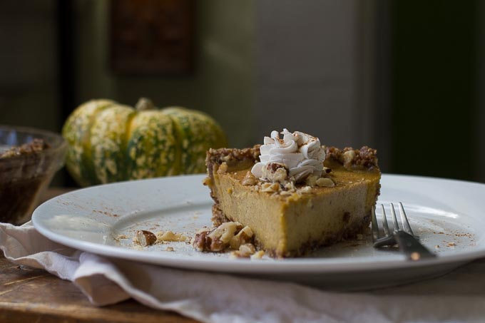 This raw vegan pumpkin pie is the healthiest version you've ever had, but it tastes sinful!