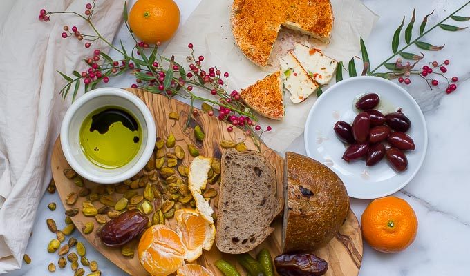 Vegan cheeseboard with homemade cashew papper jack-great for holiday entertaining!