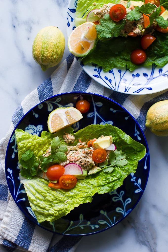 Raw vegan Mock Chicken Pate makes a great stuffing for lettuce wraps, vegan sushi or aten with crudite as a snack!