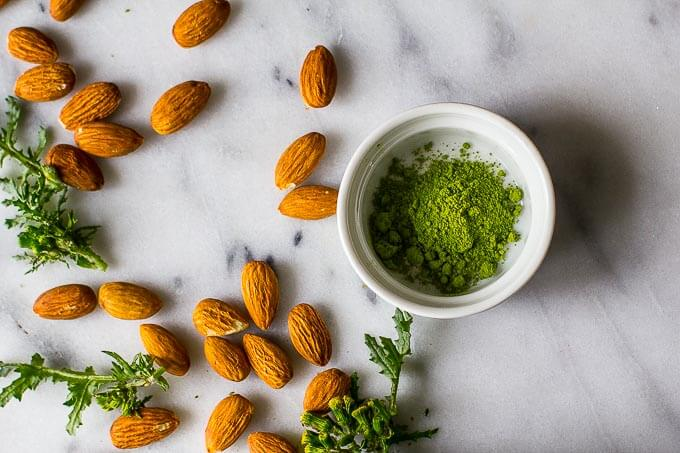 Raw Vegan Matcha Protein Almond Milk is a great sugar-free option for your morning smoothie. The extra boost of protein will help rev your metabolism and keep you satisfied all morning long.