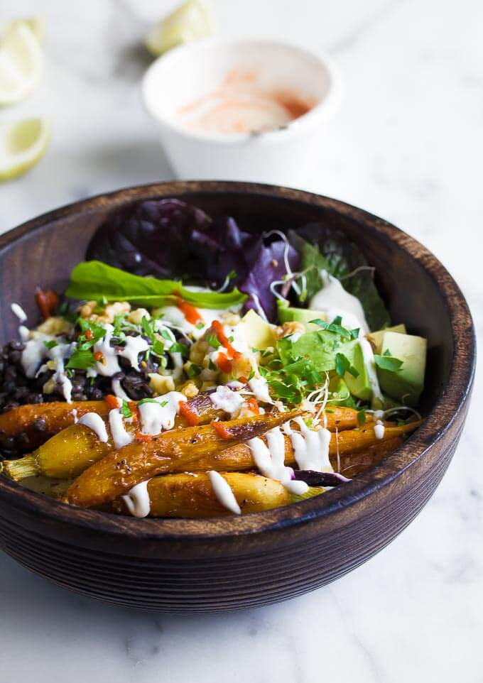 Harissa Roasted Carrot Buddha Bowl - Plant Craft