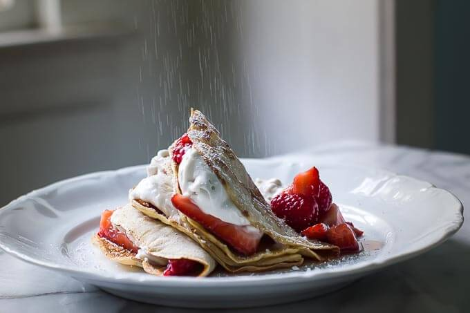 Berry Crepe with Coconut Whipped Cream