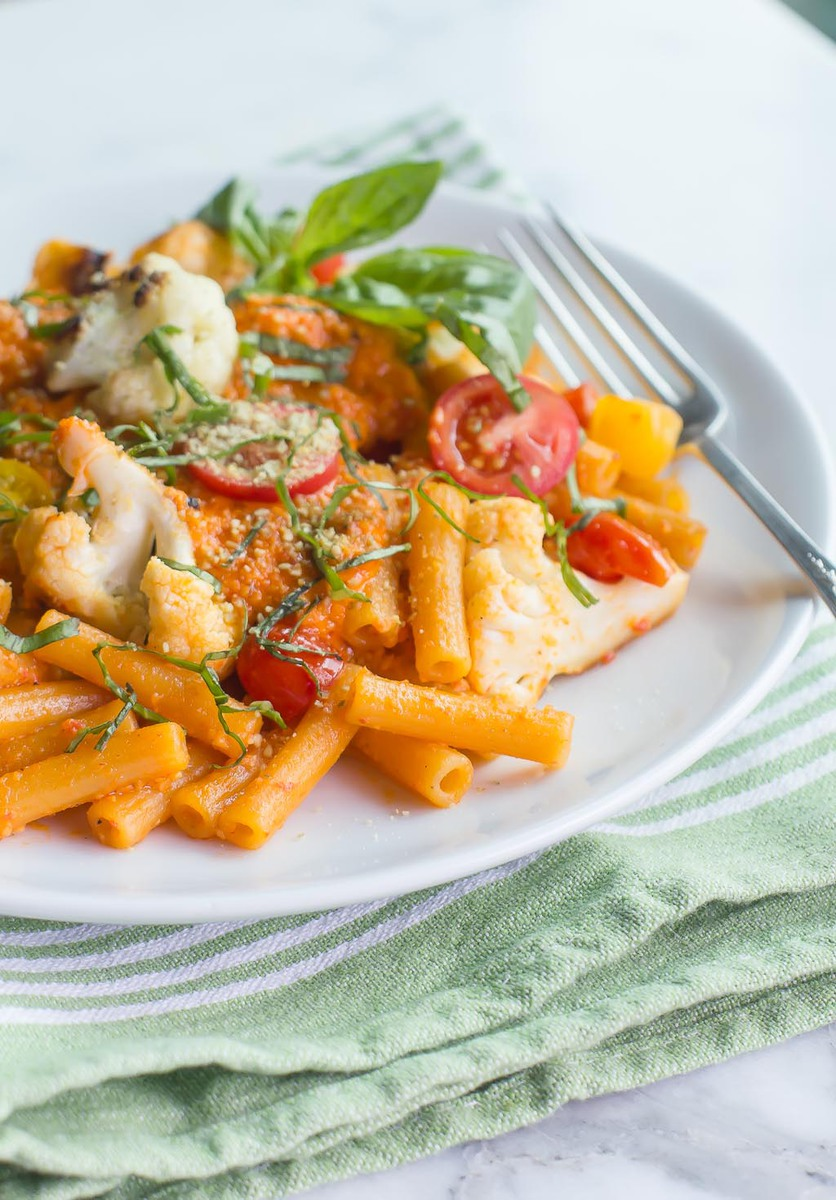 Roasted Red Pepper Pesto Penne