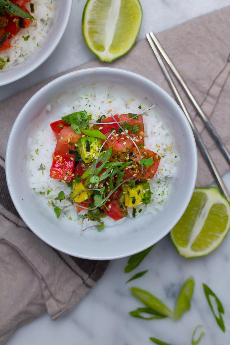 Heirloom Tomato Poke