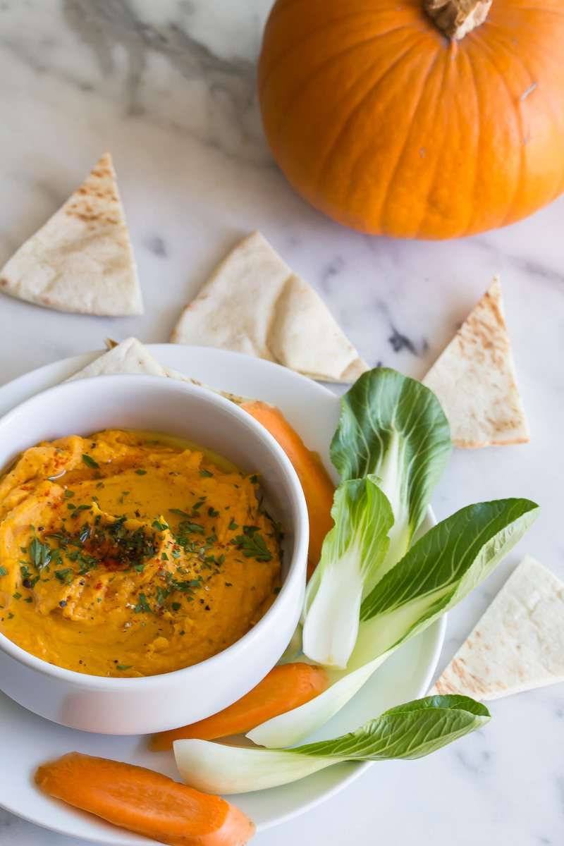 Roasted Squash and Pumpkin Hummus - Plant Craft