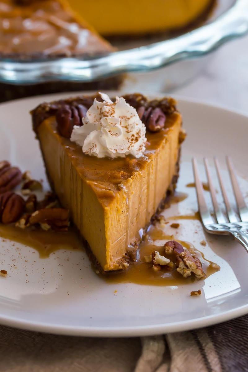 Sweet Potato Pecan Pie with salted bourbon maple caramel ...