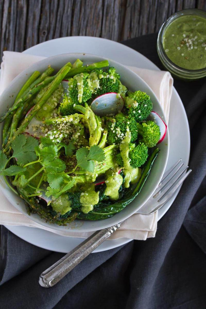 Vegan Green Goddess Bowl-get your greens with this delicious and healthy bowl
