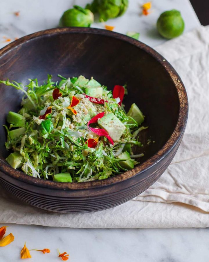 Brussels Sprout and Arugula Caesar