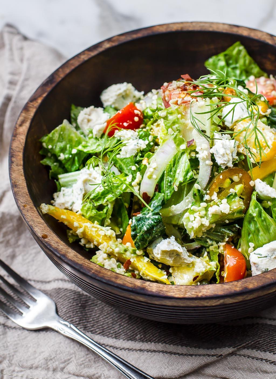 Raw Vegan Greek Salad