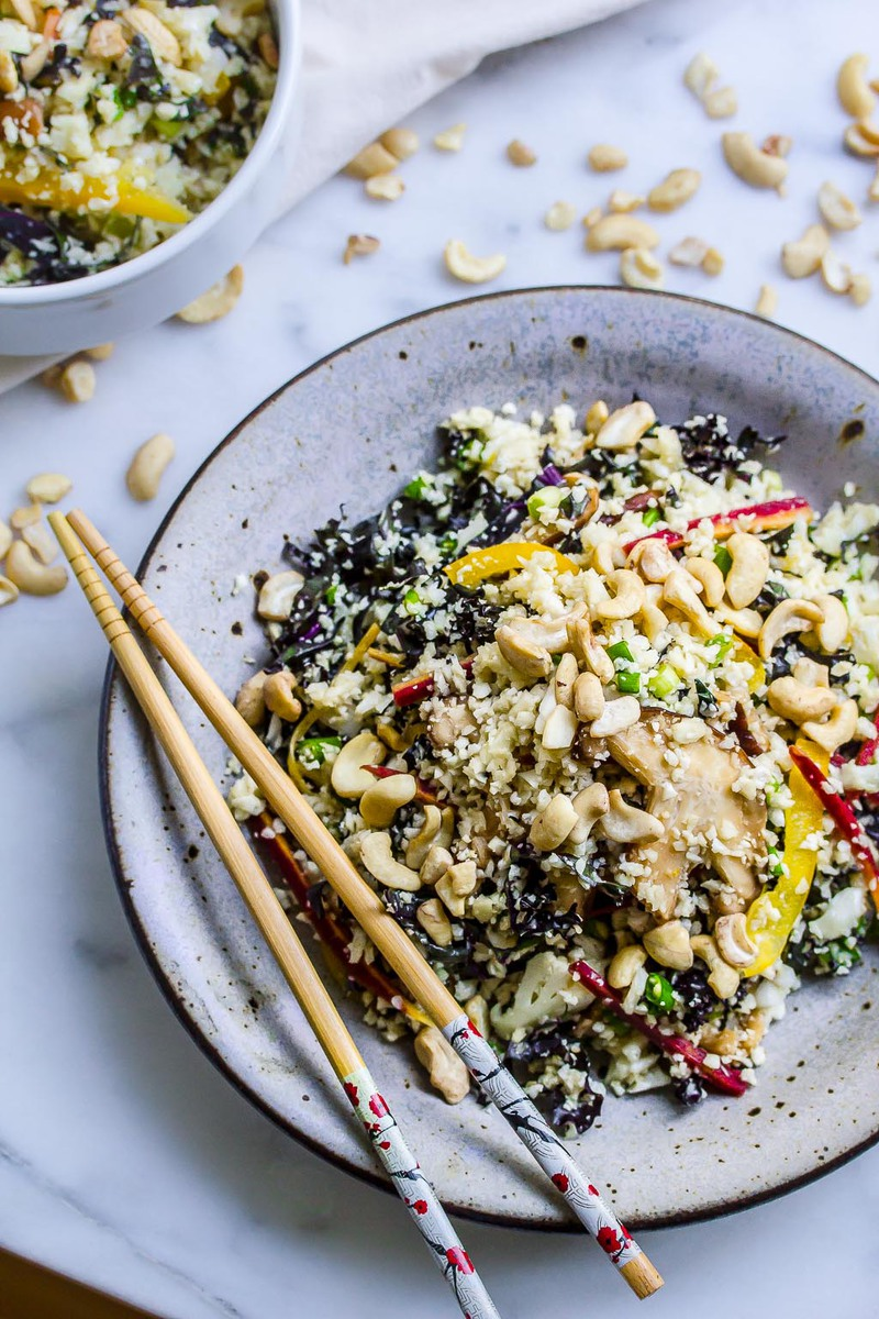 Raw Vegan Cauliflower And Kale Fried Rice Plant Craft