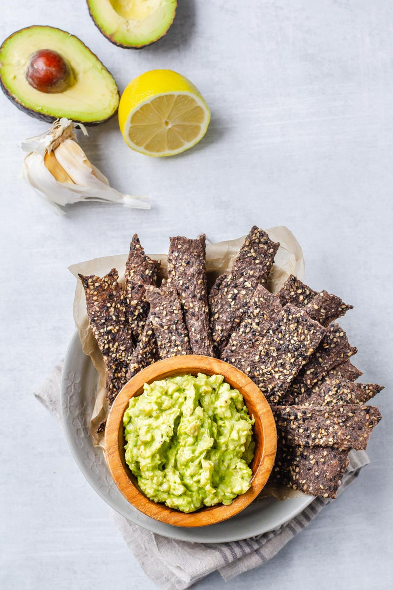 Raw Vegan Black Sesame Crisps