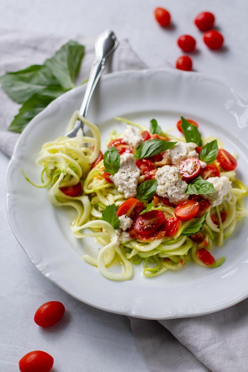 Raw Vegan Margherita Linguini