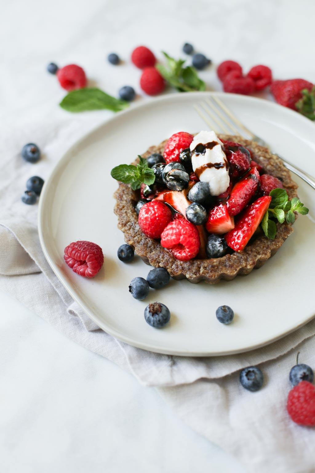 Balsamic Berry Tart