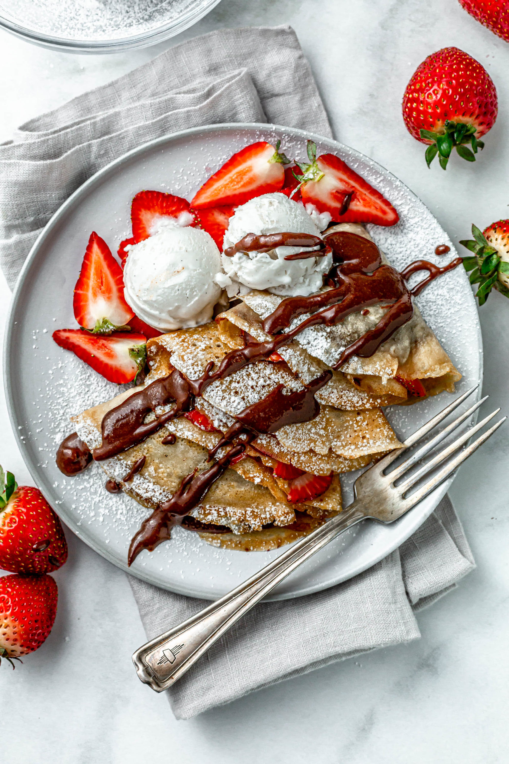 Vegan Nutella Strawberry Crepes Plant Craft