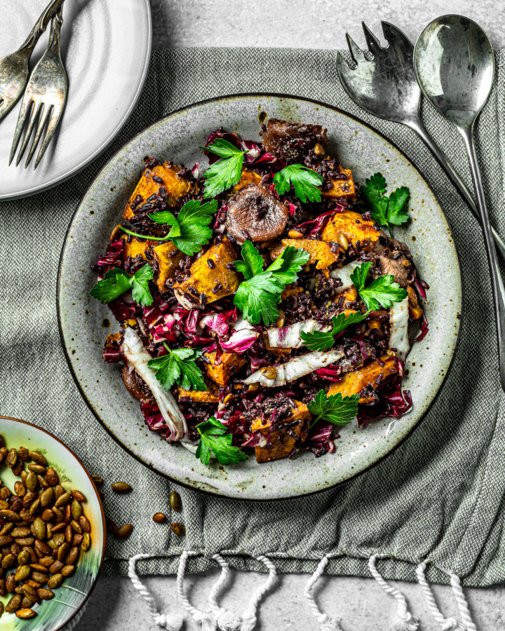 Wild Rice Kabocha and Cranberry Salad